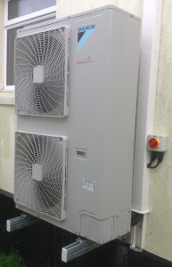 Air Source Heat Pump Installed in Plymouth.