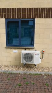 Mitsubishi Air Source Heat Pump Installed in Devon.